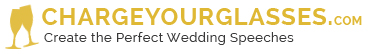 CHARGEYOURGLASSES.com | Create the Perfect Wedding Speeches